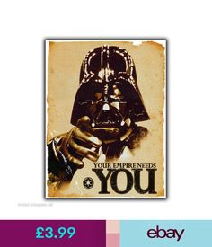 Plaques & Signs Darth Vader Your Empire Needs You - Vintage Retro Metal Wall Sign Plaque Poster #ebay #Home & Garden