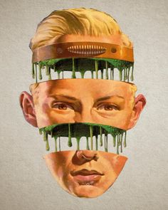 Collages by Matt Cunningham Collages, Collage Artists, Picsart, Moon Patrol, Makeup Collage, Art Grunge, Magazine Collage, Bizarre, Vintage Horror