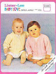 Lister 1372 baby cardigan vintage knitting pattern