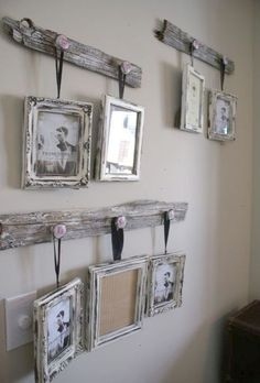 Best Country Decor Ideas - Antique Drawer Pull Picture Frame Hangers - Rustic Farmhouse Decor Tutorials and Easy Vintage Shabby Chic Home Decor for Kitchen Living Room and Bathroom - Creative Country Crafts Rustic Wall Art and Accessories to Make and Sell #CountryHomeDecorating