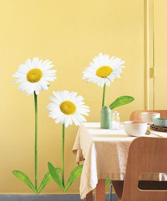 Take a look at this Daisy Wall Decal Set by Nouvelles Images on #zulily today! $19.99