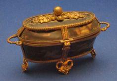 c1800 Palais Royal Tortoiseshell & Ormolu Bronze Dore Sewing Etui Box