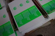 Silkscreen Cards by tind , via Behance