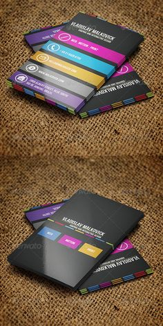 Simple and clear   Designer Business Card. Great design. Want to do banding at bottom