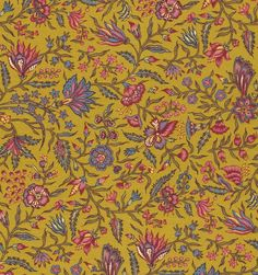 Dutch Chintz - Provence  Golden Yellow 1/2 yd by Motifsbyhand on Etsy https://www.etsy.com/listing/157535817/dutch-chintz-provence-golden-yellow-12
