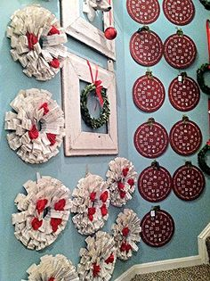 Coming to our Christmas show!  www.chickspicksbyhillary.com Wreaths and advent calendars!