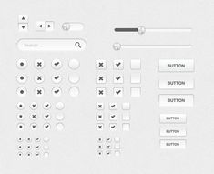 SILVER UI KIT—Clean and simple UI elements... a pop of color and you're done.