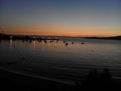 Puesta de sol Aguete Marin (Pontevedra)
