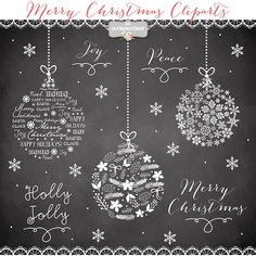 ❤ Clipart christmas ball, christmas clipart, winter clipart, red christmas clipart, snowflakes clipart ❤ INSTANT DOWNLOAD ❤ You will receive: - 10 christmas clipart cliparts high quality clip art 6x6 300 dpi PNG transparent background files without watermarks - 1 chalkboard