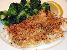 This is a traditional New England classic made with the perfect combination of fresh bread crumbs and Ritz crackers for the topping. A litt. Baked Cod, Baked Fish, Oven Baked, Ritz Crackers, Fish Dishes, Seafood Dishes, Main Dishes, Cooking Dishes, Cooking Recipes