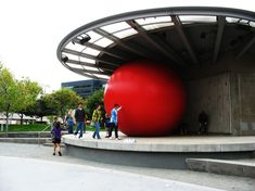 Interactive Giant Red Ball - My Modern Metropolis
