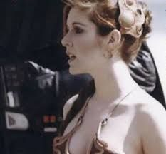 """Princess Leia /""""Slave Outfit/"""" Star Wars Movie Silk Poster 10/""""x18/"""" Carrie Fisher"""
