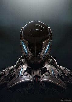 ArtStation - Battle armor, by Jens FiedlerMore robots here.