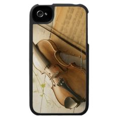 Violin and Sheet Music iPhone 4 Covers