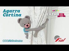Agarra Cortina | Barbante Extra Cores 100% Algodão - YouTube Amigurumi Doll, Crochet Dolls, Pet Toys, Bookmarks, Arts And Crafts, Teddy Bear, Make It Yourself, Animals, Home Crafts