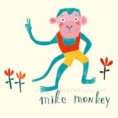 red cheeks factory: Animal character 002: Mike Monkey