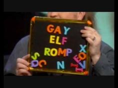 Alan: sit look rub panda;  Jimmy: put smarties tubes on cats legs make them walk like a robot;  Bill: gay elf romp