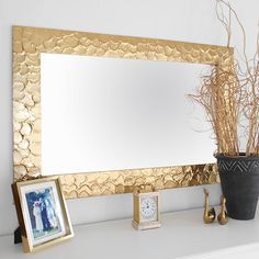 rust-oleum metallic gold mirror frame