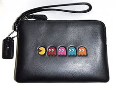 Coach Pac-Man Calf Leather Corner Zip Wristlet Wallet, F54841 – Style For Her