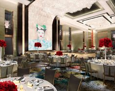 Ballroom rendering by HBA/Hirsch Bedner Associates for the Shangri-La Hotel Jing An, opening in June 2013. The Jing An Grand Ballroom will be the largest in West Shanghai at 1,740 square meters!