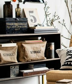 Relaxed, rustic storage and decor