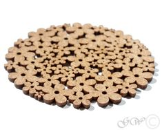 Items similar to Laser Cut Wood Coaster. Flower Pattern on Etsy Wood Cutting, Laser Cutting, Cork Christmas Trees, Bar Coasters, Lazer Cut, Cnc Wood, Laser Machine, Wood Flowers, Wood Tree