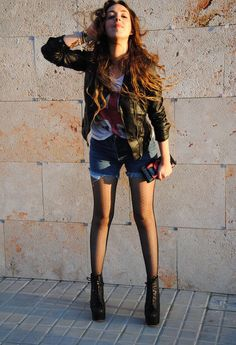 I LOVE ROCK ¨rocking¨ England!  , Zara in Jackets, Lefties in T Shirts, levi\'s vintage in Jeans, Jeffrey Campbell in Ankle Boots / Booties
