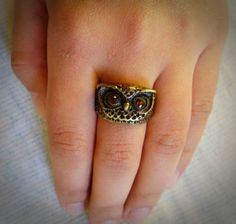 Anel Coruja. Ring.