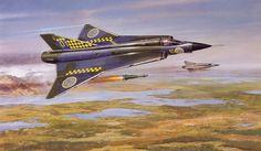 Saab Draken firing rockets! Military Jets, Military Aircraft, Fighter Aircraft, Fighter Jets, Saab 35 Draken, The Art Of Flight, Airfix Kits, Post War Era, Cross Art