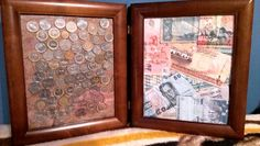 A nice way to display money brought back from foreign countries.