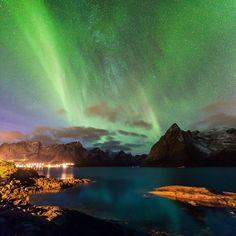 Auroras Taken by Alex Conu on October 31, 2014 @ Hamnøy, Lofoten Islands, Norway