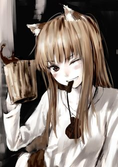 Spice and Wolf. It's easier to take her seriously when she's actually wearing clothes.