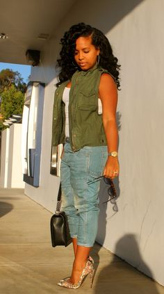 Celine sunnies, Aeropostale vest, James Perse tank, Free People jeans, CL heels - Luxe Fashionably Ideas- New Trends - Luxe Fashionably Ideas- New Trends Chic Outfits, Fall Outfits, Fashion Outfits, Fashion Trends, Fashion Pants, Fashion Tips, Look Fashion, Girl Fashion, Womens Fashion
