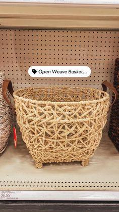 Laundry Room Storage, Craft Room Storage, Shoe Storage, Open Weave, Basket Weaving, Bassinet, Target, Home Decor, Laundry Storage