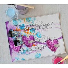 Artistic Scrapbooking with Cling Mount Stamps  By Dina Wakley