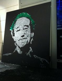 Portrait de Patrck BLANC en Gitter Painting par EriK BLACK