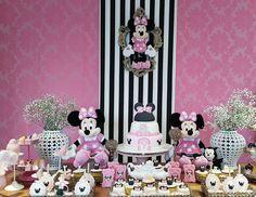 """40 curtidas, 2 comentários - MARI.festas (@marifestas) no Instagram: """"Minnie para a Lindeza da Emanuele!  Ela faz 3 aninhos.... Foi lindo !!! Obrigada mamãe Maria Paula…"""""""