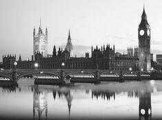 искусство, лондон, фото, мост, Биг Бен, черно-белый