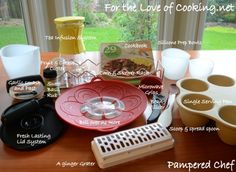 A great batch of Pampered Chef products.