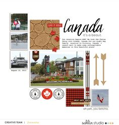 Canada digital scrapbooking layout created by fonnetta featuring Project Mouse (World): Canada by Sahlin Studio and Britt-ish Designs