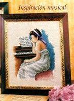 practicing at the piano. Cross Stitch Music, Cross Stitch Angels, Renoir Paintings, Cross Stitch Designs, Cross Stitching, Needlework, Mona Lisa, Frame, Artwork