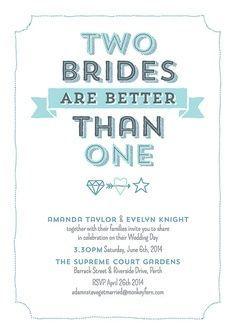 lesbian wedding invitation - Google Search