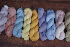 Natural dyed yarn on British fibres, spun in Britain.