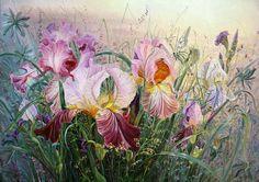 Irises   canvas, oil, 50x70 cm, 2013