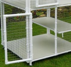 A 3 tier large cat cage which can be open to each other or separated by floors. Can house three cats separately. Outdoor cat cage or indoor cat cage. Indoor Cat Enclosures, Diy Cat Enclosure, Outdoor Cat Enclosure, Cat Cages Indoor, Outdoor Cat Cage, Outdoor Cats, Large Cat Cage, Cage Rat, Bird Cage