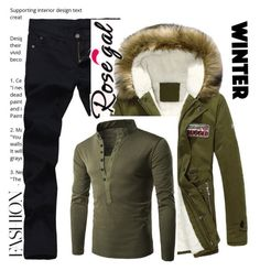 """""""Rosegal"""" by semiragoletic ❤ liked on Polyvore featuring men's fashion, menswear, Winter, men and rosegal"""