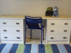 Rast Hack. Desk for kid's room with lots of storage!