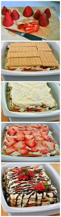 all-food-drink: Bake Strawberry Icebox Cake recipe