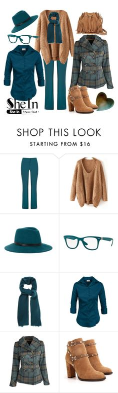 """http://bit.ly/1OHx9di"" by fatange ❤ liked on Polyvore featuring Giuliana Romanno, BCBGMAXAZRIA, Ray-Ban, Oasis, Dollhouse, Valentino and Rebecca Minkoff"