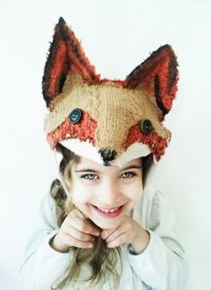Fox Hat Hand Felted Woodland Halloween Costume by PettiBearKIDS